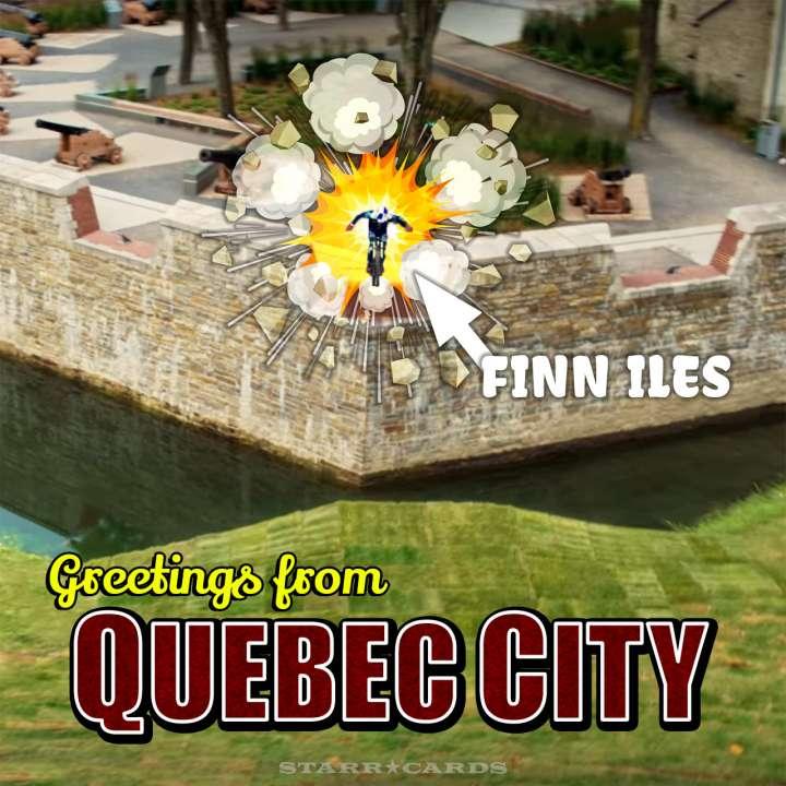 MTB racer Finn Iles blasts off in Quebec City