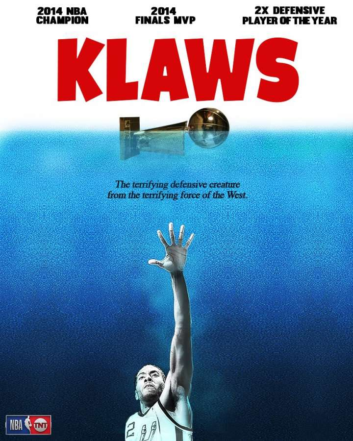 NBA Movie Remakes: Kawhi Leonard in 'Klaws'