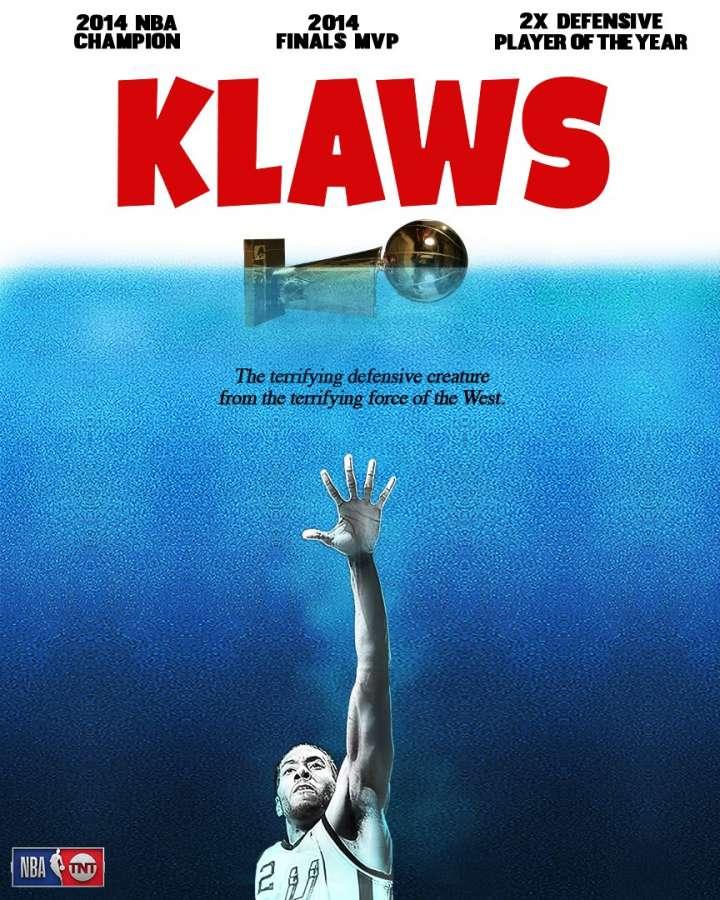 NBA Movie Remakes: Kawhi Leonard in 'Klaws'