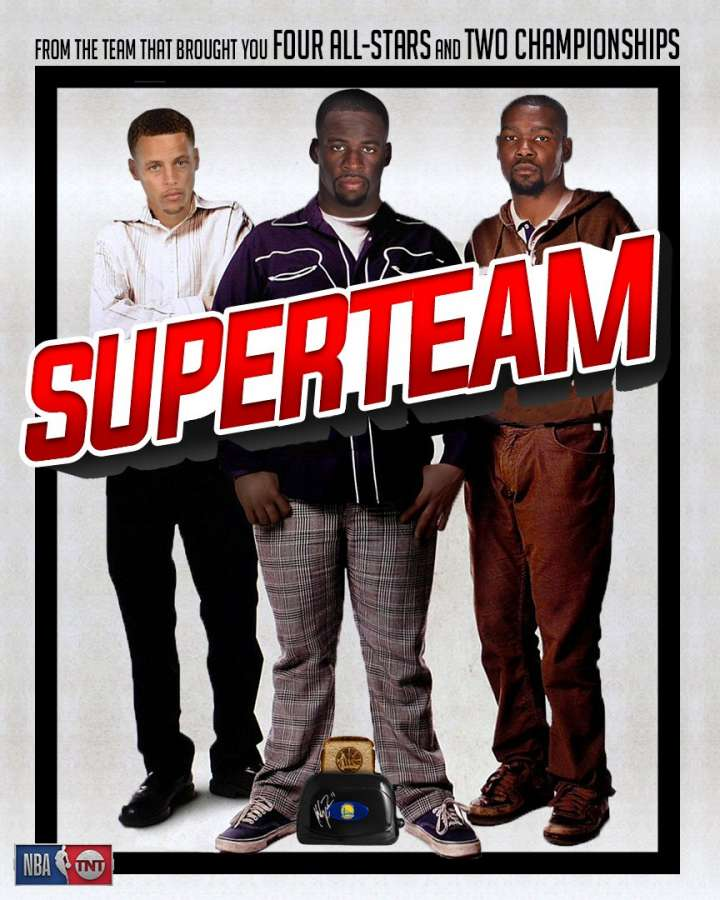 NBA Movie Remakes: Steph Curry, Draymond Green and Kevin Durant in 'Superteam'