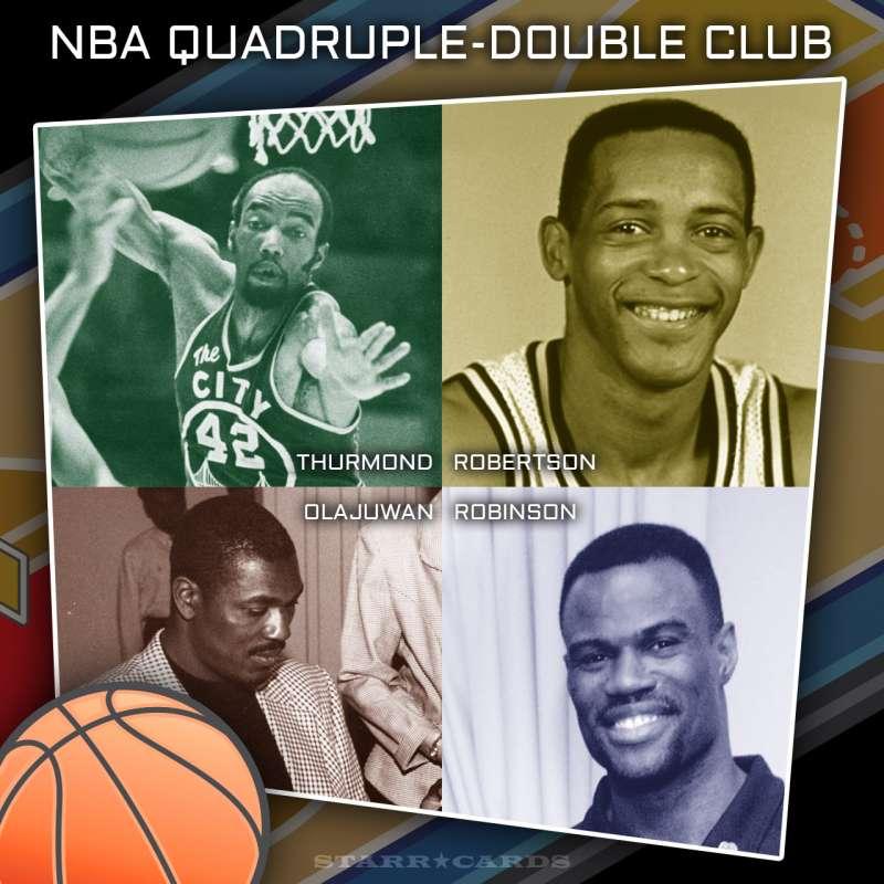 NBA Quadruple-Double Club: Nate Thurmond, Alvin Robertson, Hakeem Olajuwan, David Robinson