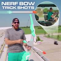 Nerf bow trick shots with Dude Perfect's Tyler Toney and Cody Jones