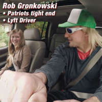New England Patriots tight end Rob Gronkowski goes undercover as Lyft driver