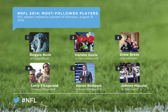 NFL 2014 most-followed players