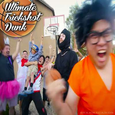 NigaHiga (aka Ryan Higa) puts together the ultimate trickshot dunk