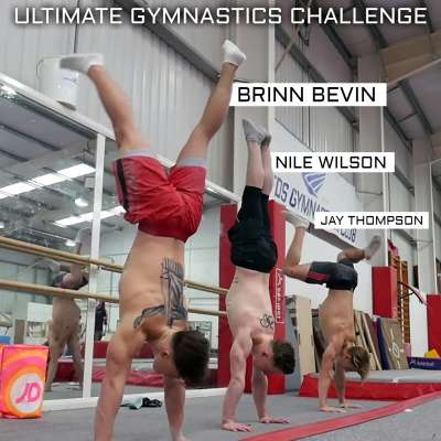 Nile Wilson hosts gymnastics challenge with Jay Thompson, Brinn Bevan