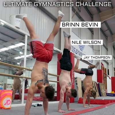 Nile Wilson hosts gymnastics challenge with Jay Thompson, Brinn Bevan