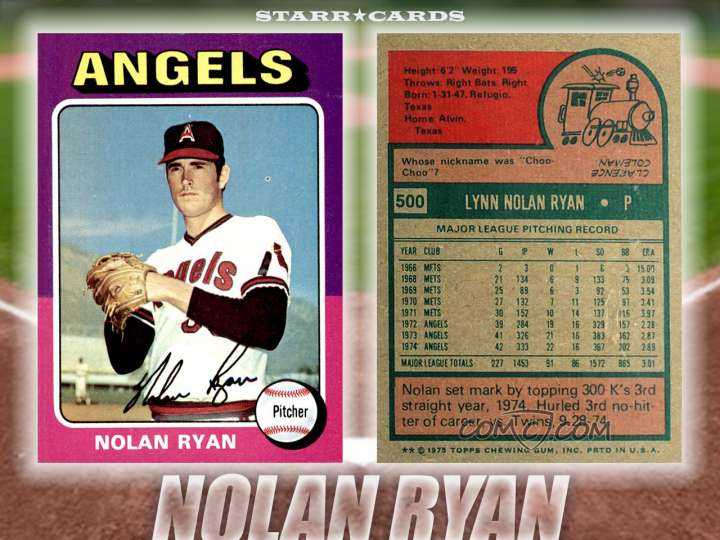 Nolan Ryan California Angels baseball card