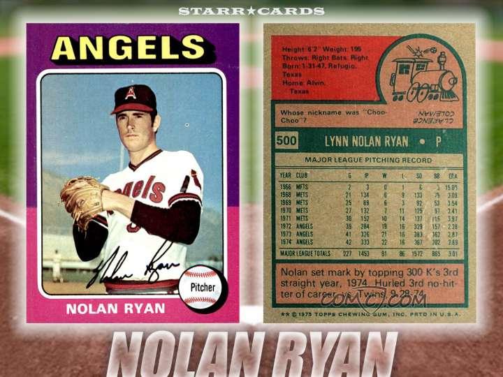 Nolan Ryan California Angels baseball card