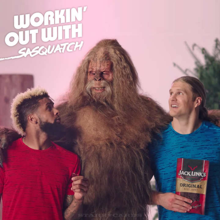 Odell Beckham Jr., Clay Matthews workin' out with Sasquatch