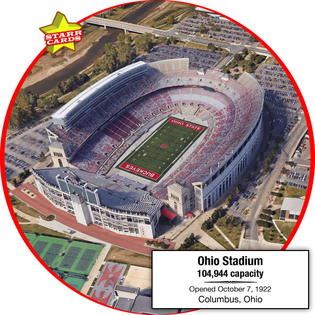 Ohio Stadium, Columbus, Ohio: Home to the Ohio State Buckeyes