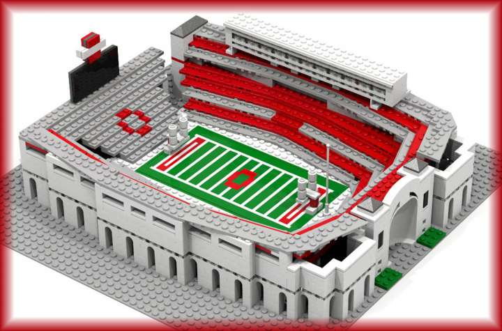 Ohio Stadium made from LEGO bricks