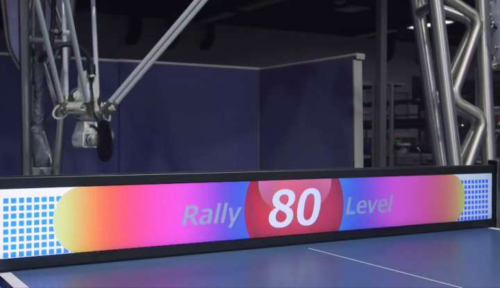 """Omron high-tech table tennis """"net"""" with LCD screen"""
