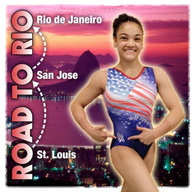 On the road to Rio 2016 Olympic Games with Laurie Hernandez
