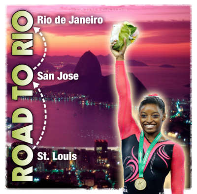On the road to Rio 2016 Olympic Games with Simone Biles
