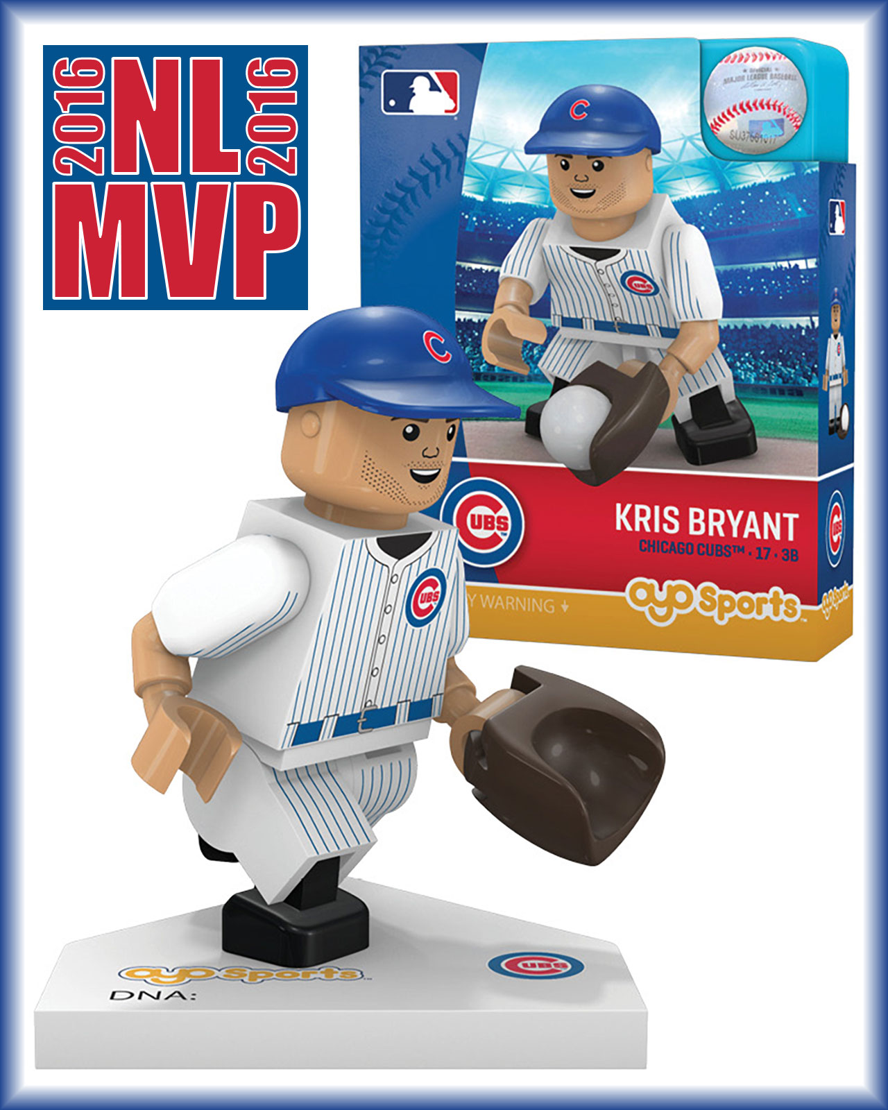 OYO SPORTS 2016 MOST VALUABLE PLAYER MVP CHICAGO CUBS FIGURE KRIS BRYANT NEW