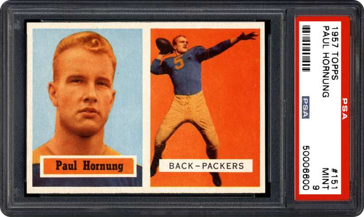 Paul Hornung, 1957 Topps football card