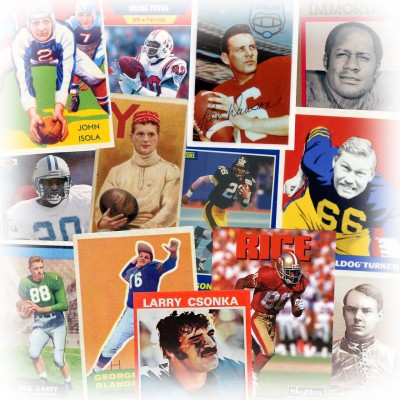 Pictorial history of football cards