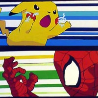 Pikachu vs Spider-Man parkour race