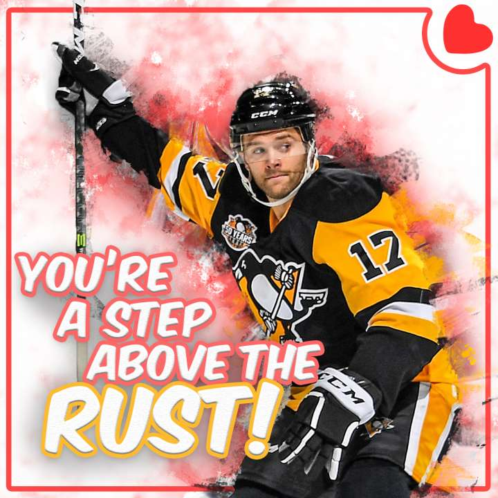 Pittsburgh Penguins Valentine from Bryan Rust