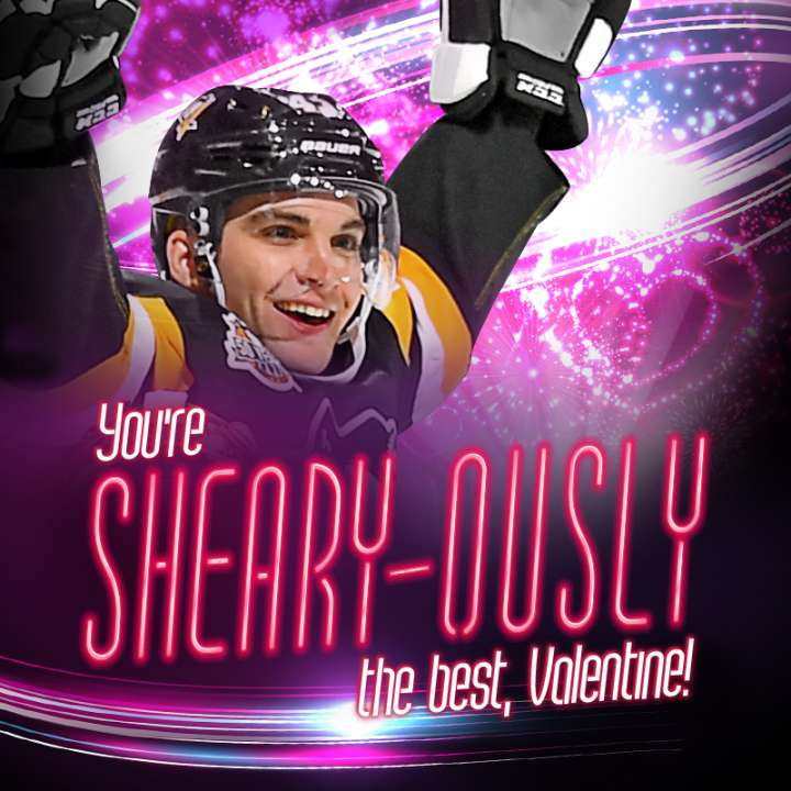 Pittsburgh Penguins Valentine from Conor Sheary