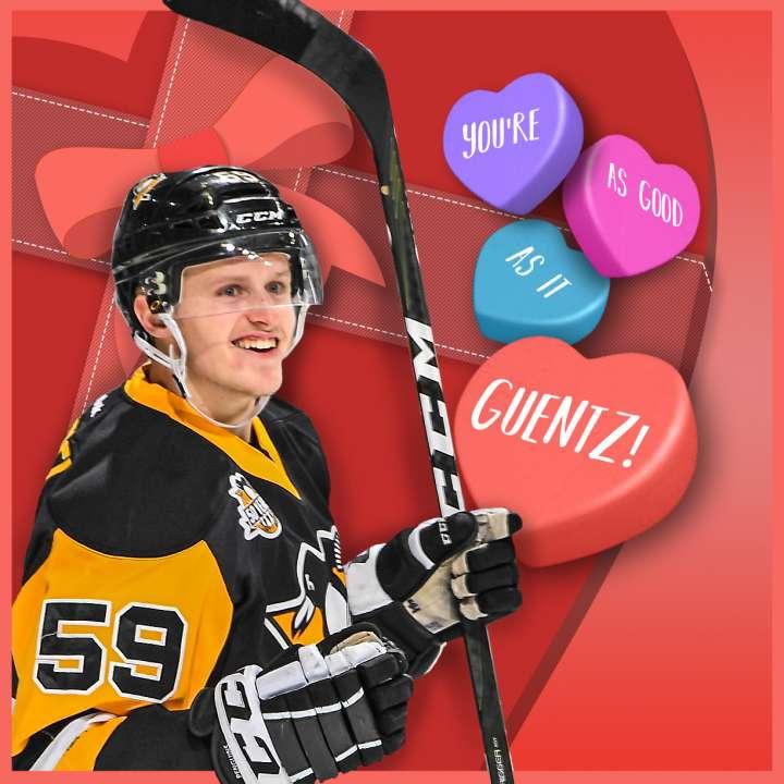 Pittsburgh Penguins Valentine from Jake Guentzel