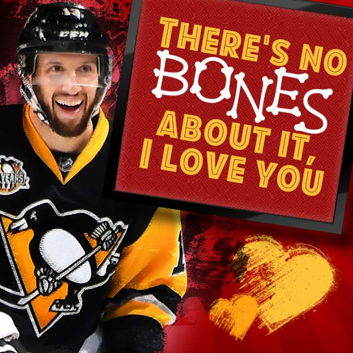 Pittsburgh Penguins Valentine from Nick Bonino