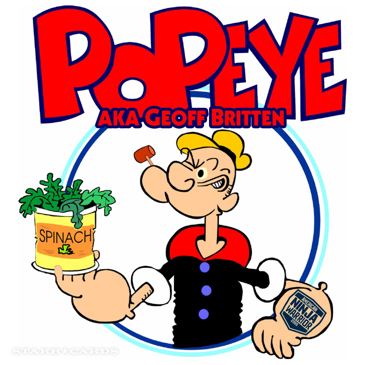 Popeye aka Geoff Britten stars on 'American Ninja Warrior'