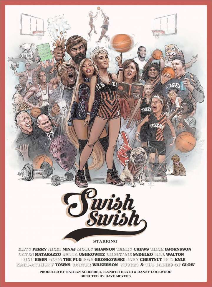 "Poster for Katy Perry's ""Swish Swish"" music video"