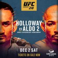 Poster for UFC 218: Halloway vs Aldo 2