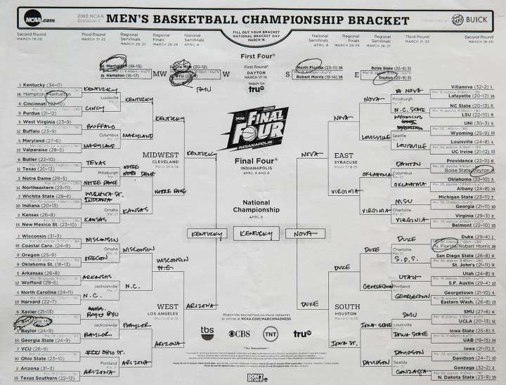 President Barack Obama's NCAA tournament bracket