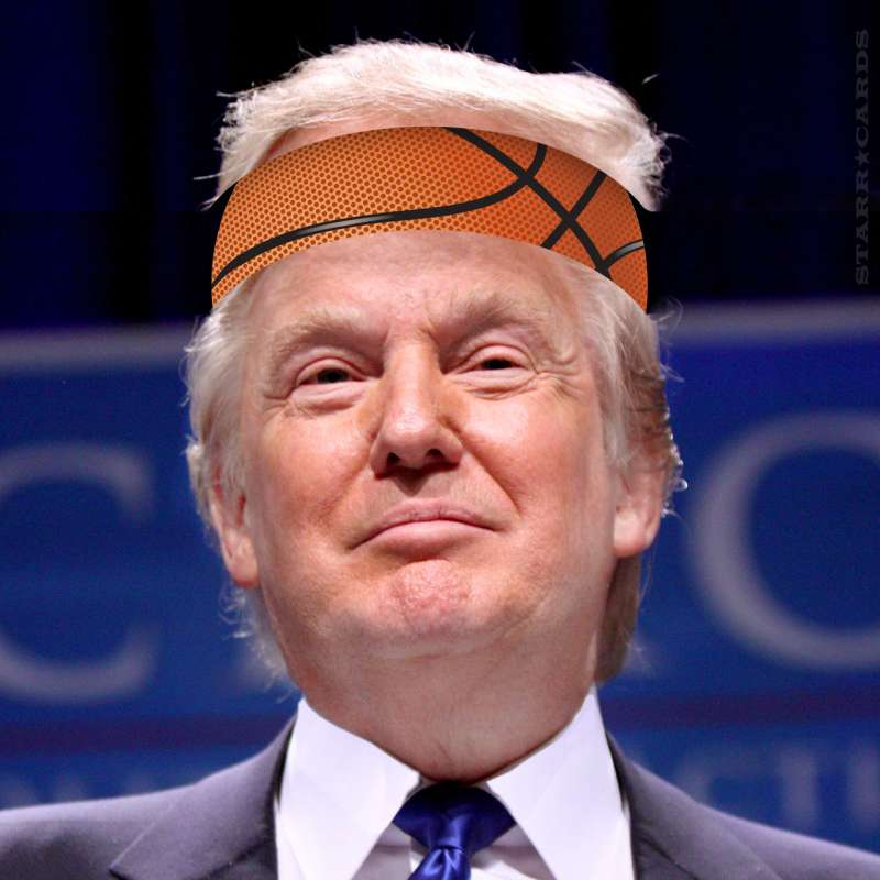 President/sports commentator Donald Trump tweets about NBA star LeBron James