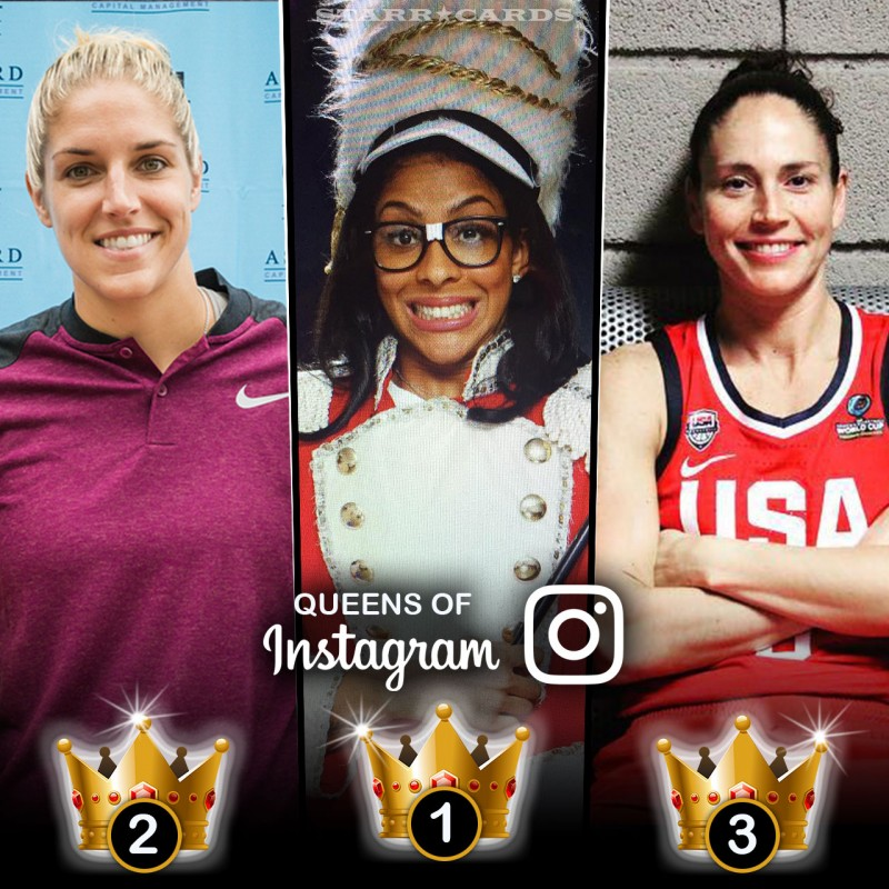 Queens of Basketball: Candace Parker, Elena Delle Donne, Sue Bird tops on Instagram