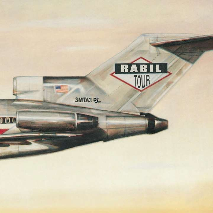 Rabil Tour parody of 'Licensed to Ill' album cover from the Beastie Boys