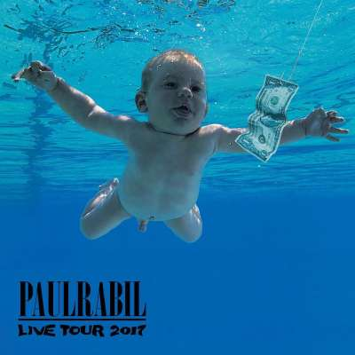 Rabil Tour parody of 'Nevermind' album cover from Nirvana