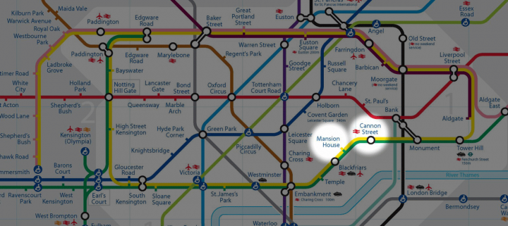 Racing The Tube from Mansion House to Cannon Street