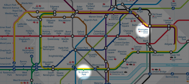 Racing The Tube from Moorgate to St James Park