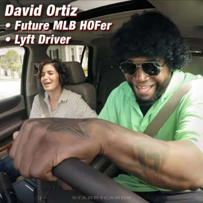 Red Sox legend David Ortiz works as a Lyft driver for a day