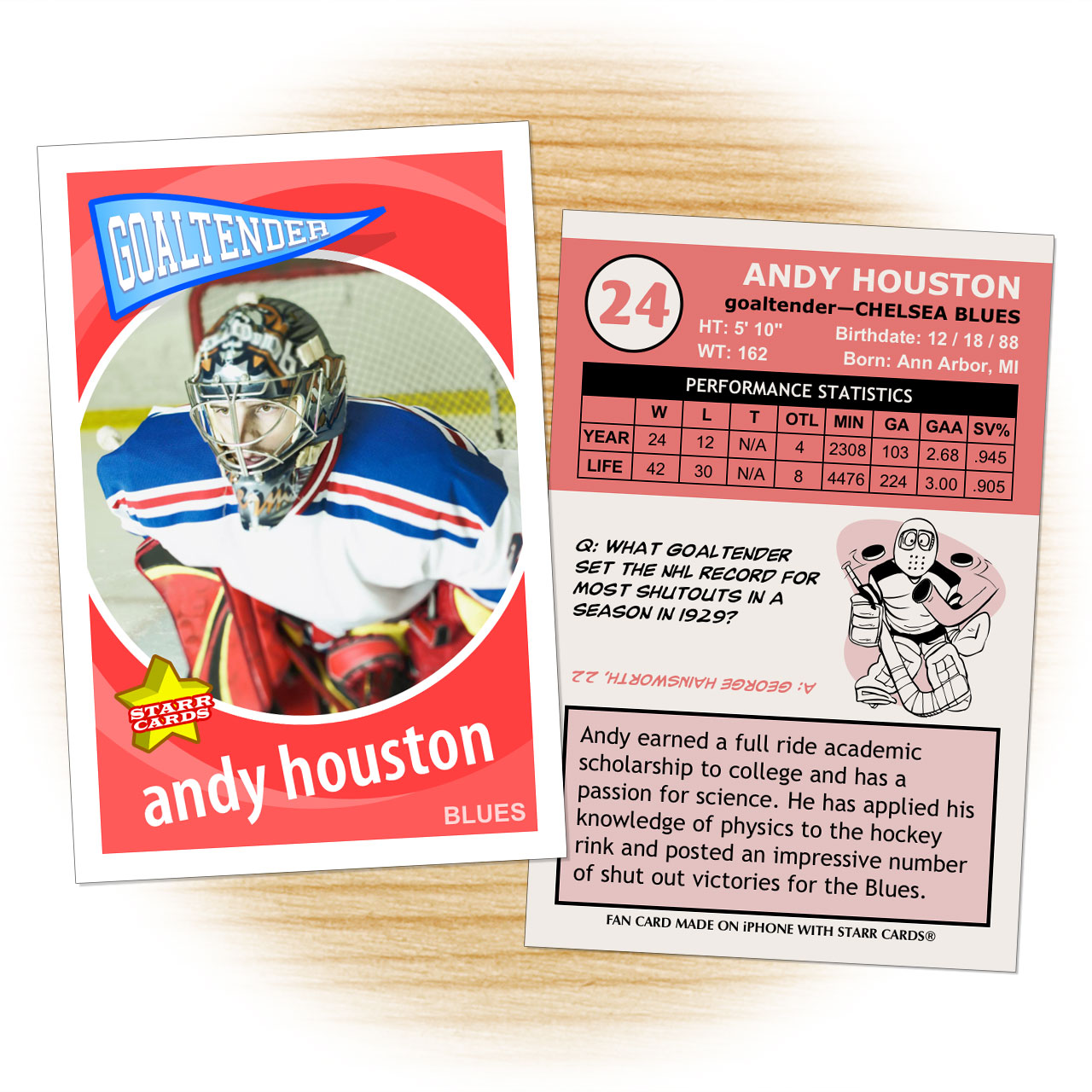 custom hockey cards
