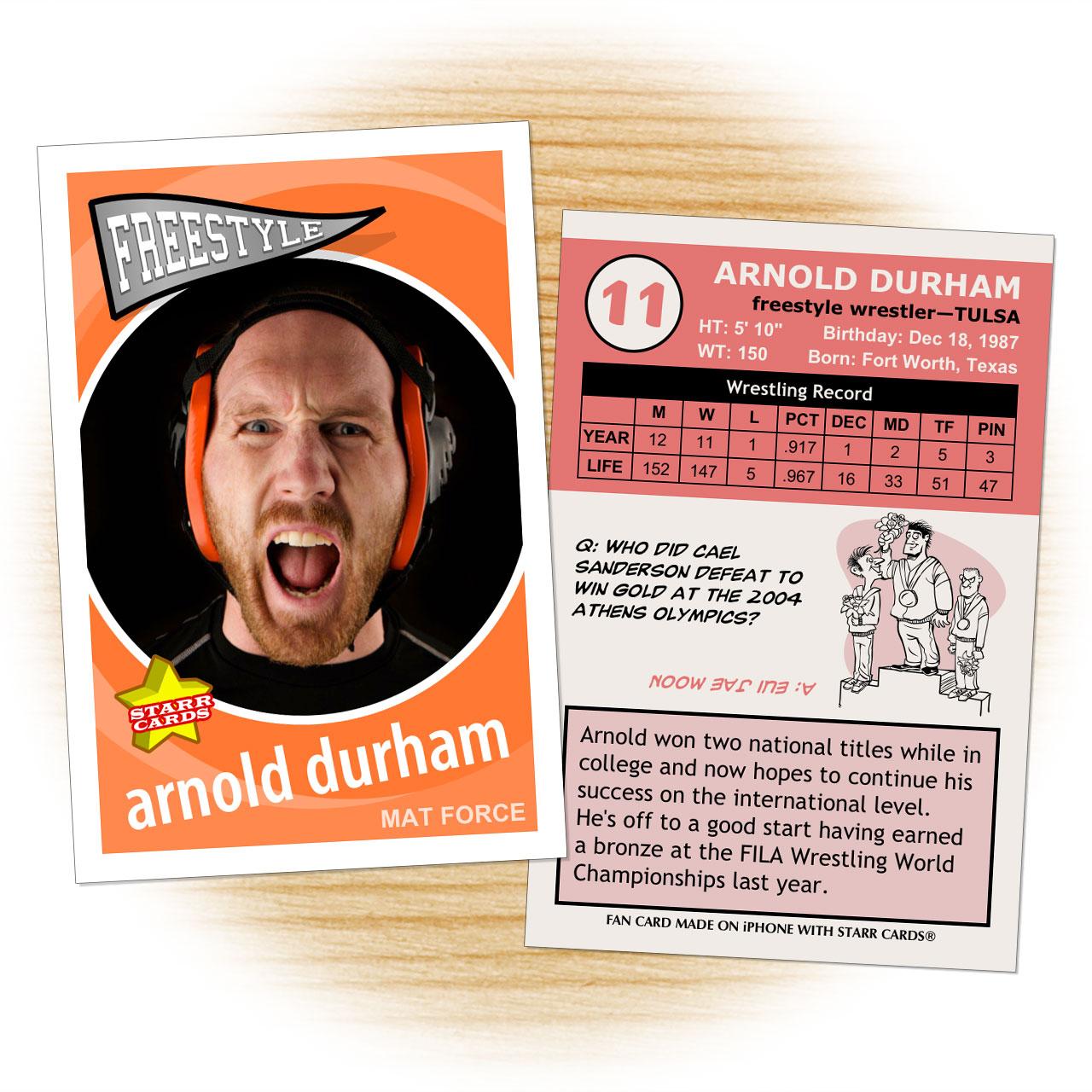 Wrestling card template from Starr Cards Wrestling Card Maker.