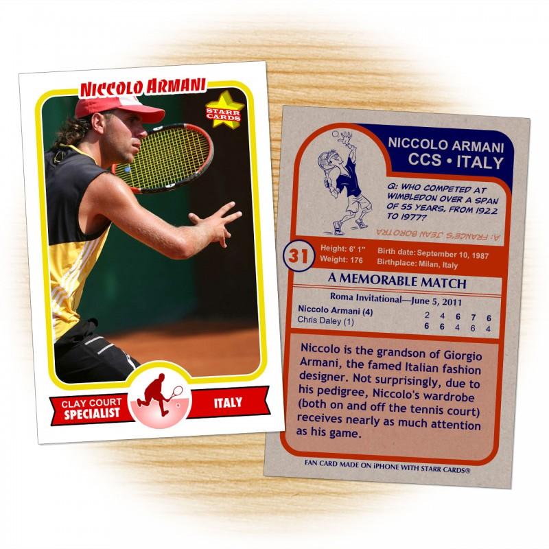 Tennis card template from Starr Cards Tennis Card Maker.