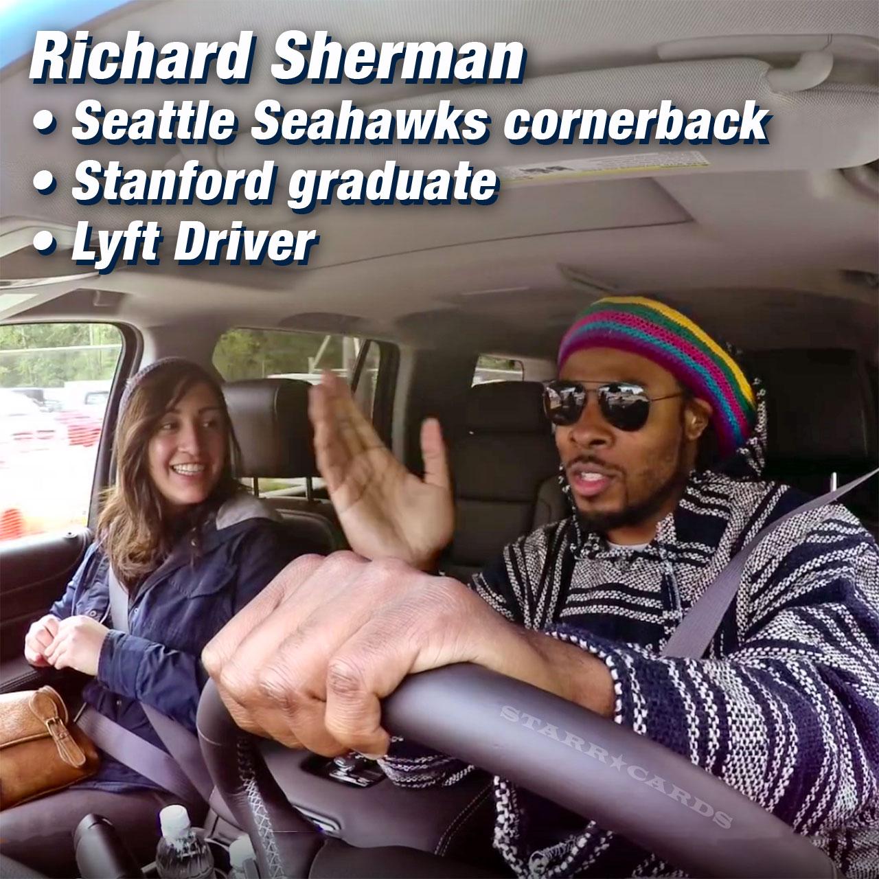 Richard Sherman: professional Lyft driver