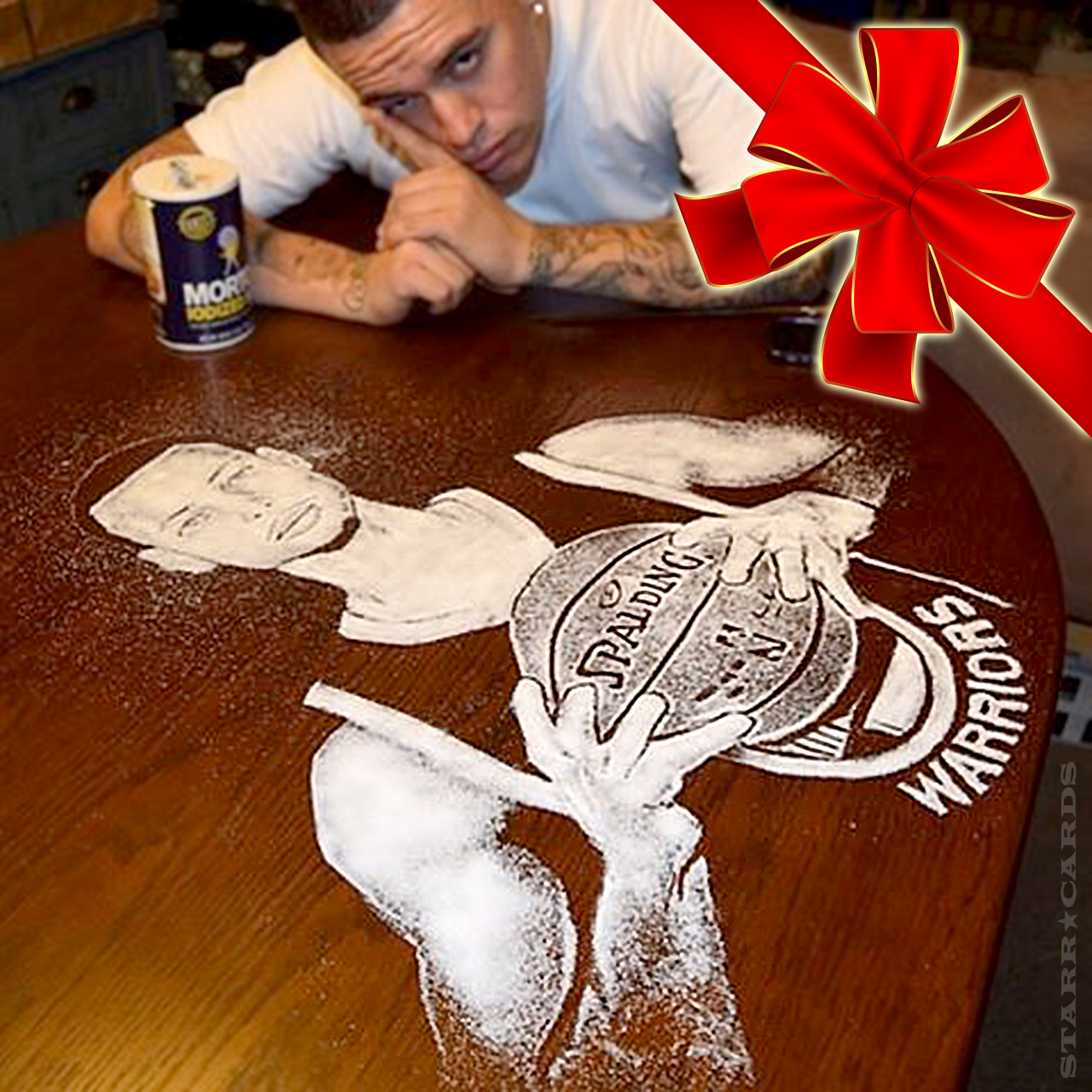 Rob the Original makes Steph Curry in salt art