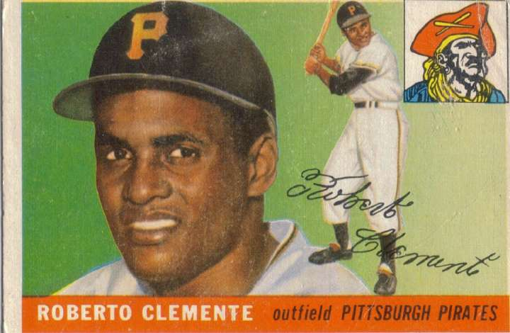 Roberto Clemente, 1955 Topps baseball card
