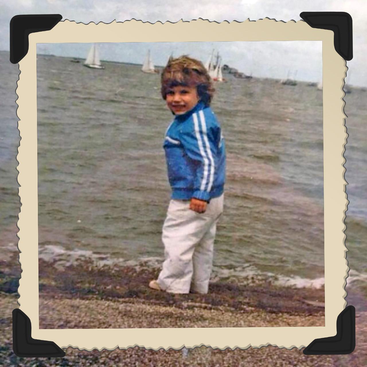 Robin van Persie as a child