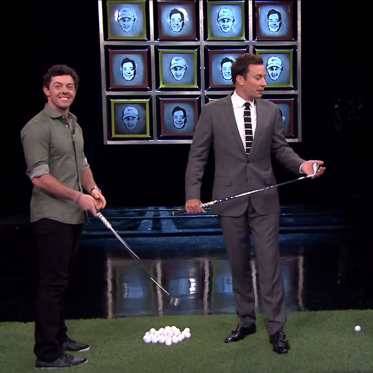 Rory McIlroy plays Jimmy Fallon in facebreakers