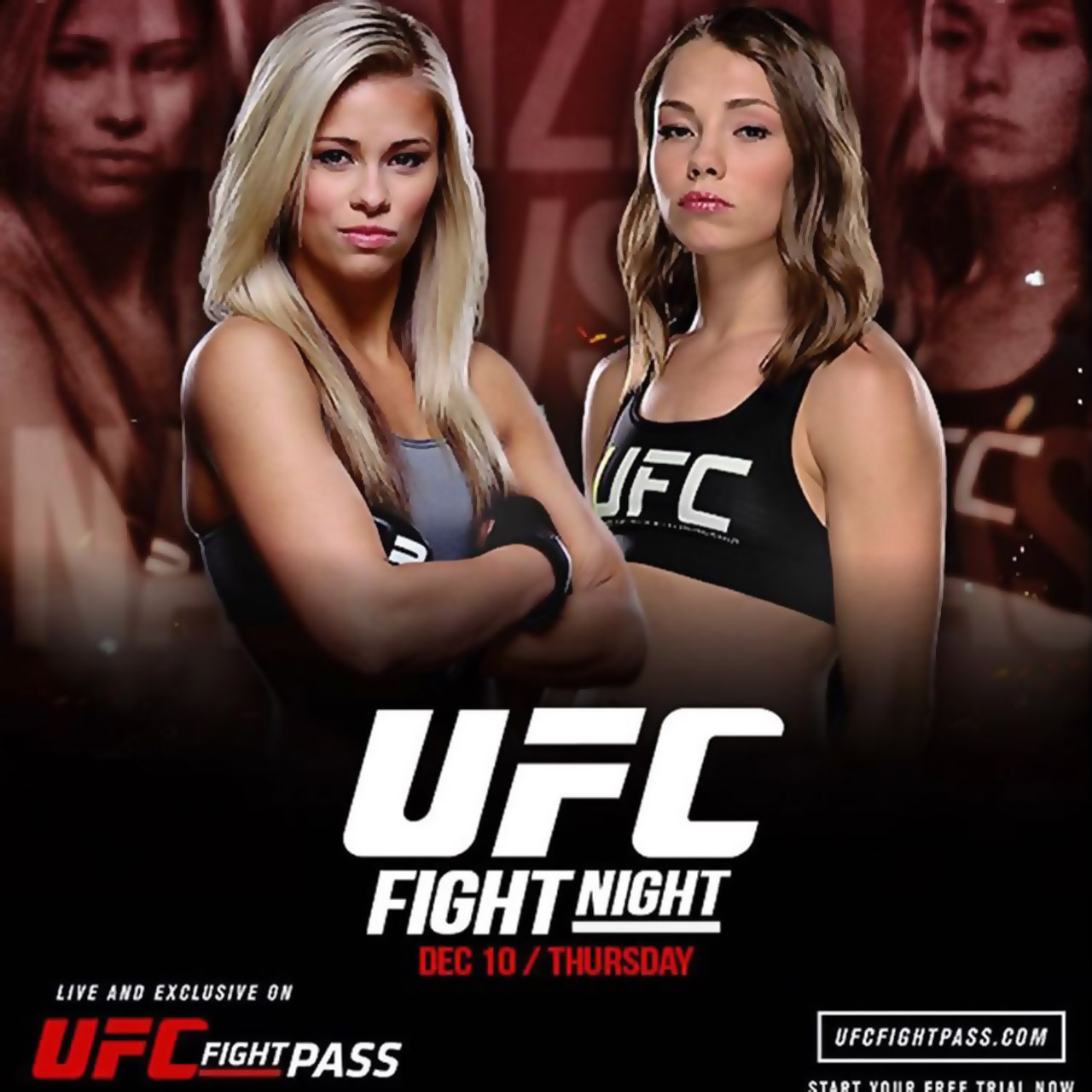 Rose Namajunas vs Paige VanZant at UFC Fight Night 80