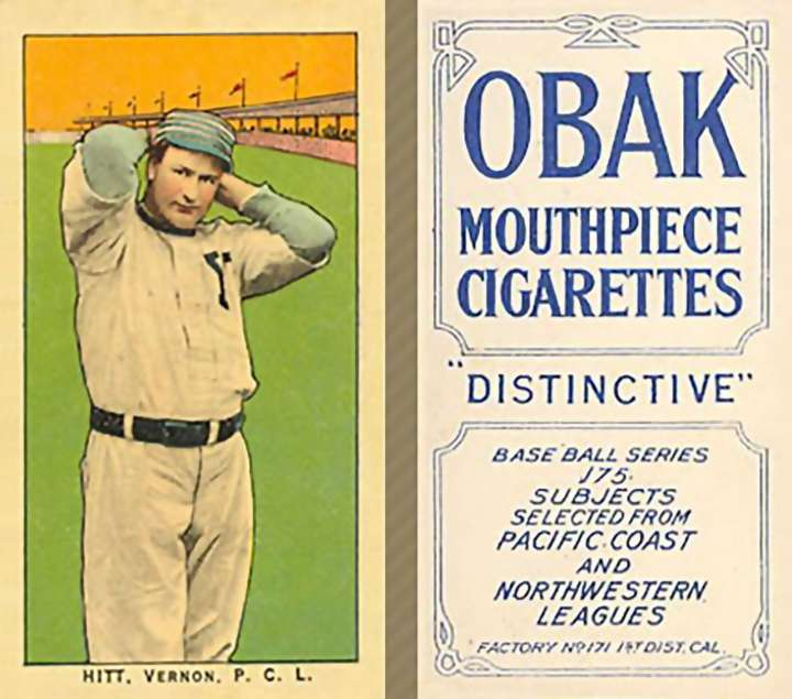Roy Hitt baseball card from his Pacific Coast League days