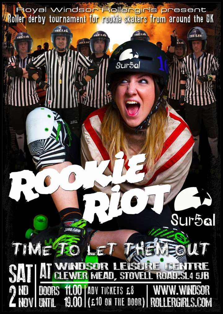 Royal Windsor Rollergirls poster