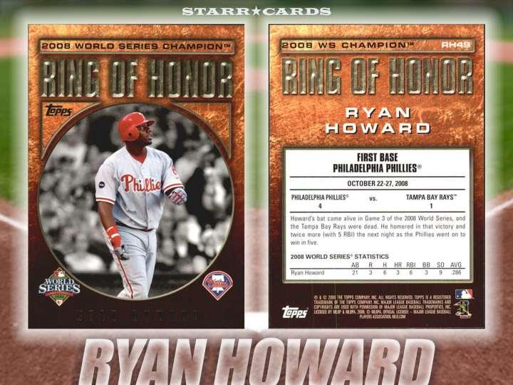 Ryan Howard Philadelphia Phillies baseball card